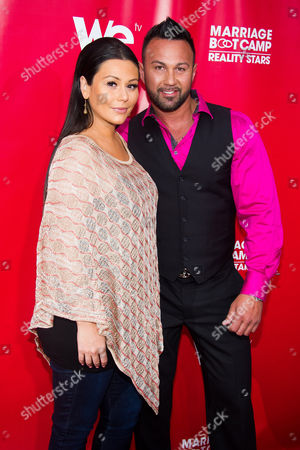 "Jenni ""JWoww"" Farley and Roger Mathews attend WE tv's ""Marriage Boot Camp: Reality Stars"" party on in New York"