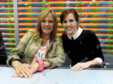 """From left, cast members Wendy Schaal and Rachael MacFarlane attends the FOX """"Family Guy & American Dad"""" booth signing on Day 4 of Comic-Con International on in San Diego, Calif"""