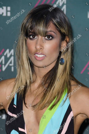 Stock Image of Anjulie poses for a picture in the Press Room during the 2013 MuchMusic Video Awards at the MuchMusic Headquarters, in Toronto, Canada