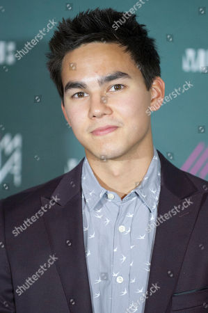 Tyler Shaw poses for a picture in the Press Room during the 2013 MuchMusic Video Awards at the MuchMusic Headquarters, in Toronto, Canada