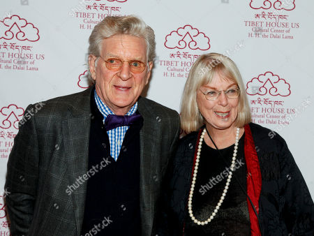 Dr. Robert A.F. Thurman, left, and Nena Thurman, attend the 12th Annual Tibet House Benefit Auction at Christie's, in New York