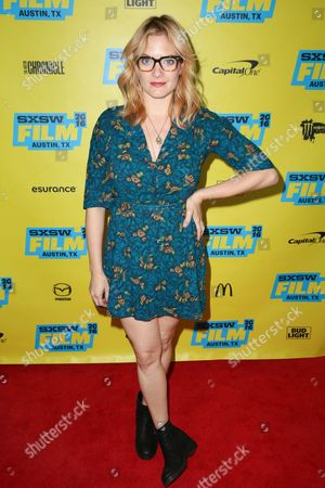 "Stock Image of Kristin Slaysman arrives at the screening of ""Miss Stevens"" during South By Southwest at the Austin Convention Center, in Austin, Texas"