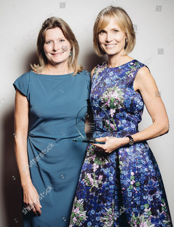 Jennifer Egan and Willow Bay pose for a portrait backstage at 26th Annual Literary Awards Festival at the Beverly Wilshire Hotel, in Beverly Hills, Calif