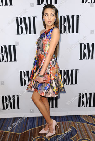 Jena Rose Raphael arrives at the 63rd annual BMI Pop Awards at the Beverly Wilshire Hotel, in Beverly Hills, Calif