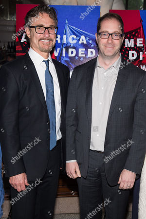 """Barry Josephson, left, and Craig Silverstein attend AMC's """"Turn: Washington's Spies"""" season three premiere event at the New York Historical Society, in New York"""