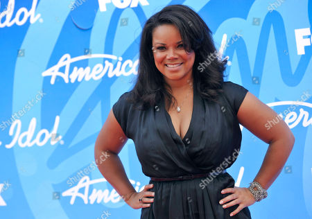 "Former contestant Kimberley Locke arrives at the ""American Idol"" finale in Los Angeles. ""American Idol"" that wraps its 15-year run, brought pop stardom to just a handful of contestants, but others who competed over the years made an impression. After finishing third in season two, Locke had a hit single with ""8th World Wonder"" and dabbled in TV and modeling"