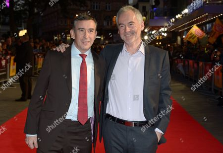 """Steve Coogan and Martin Sixsmith attend the American Express Gala Screening of """"Philomena"""" at the Odeon West End during the 57th BFI London Film Festival in partnership with American Express, in London"""