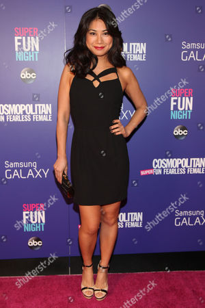 "Liza Lapira attends the Cosmopolitan Hosts ""Super Fun Night"" Premiere at the Joseph Urban Theater at Hearst Tower on in New York"