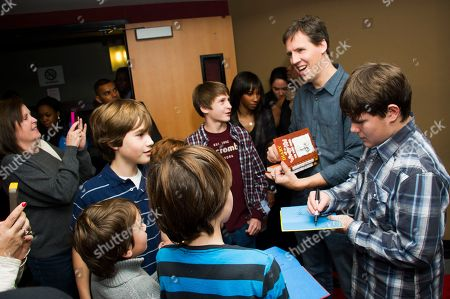 """Diary of A Wimpy Kid author Jeff Kinney and actor Robert Capron meet with fans on the red carpet to celebrate the """"Diary of a Wimpy Kid: Dog Days"""" Blu-ray debut on December 18th, at an exclusive screening event held on in New York. Hosted by Twentieth Century Fox Home Entertainment and the Carmelo Anthony Foundation, the family fun event took place at the AMC Empire 25 Theater"""