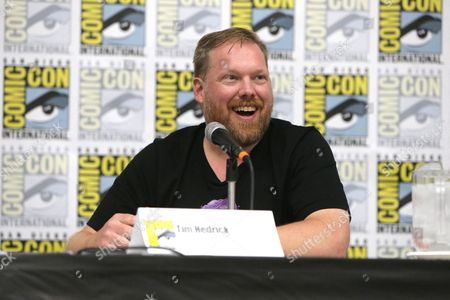 "Writer Tim Hedrick speaks at DreamWorks Animation ""Voltron"" Panel at 2016 Comic-Con, in San Diego, Calif"