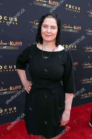 "LAIKA Costume Designer Deborah Cook seen at Focus Features and LAIKA Grand Opening of ""From Coraline to Kubo: A Magical LAIKA Experience"" at The Globe Theatre, in Universal City, CA"