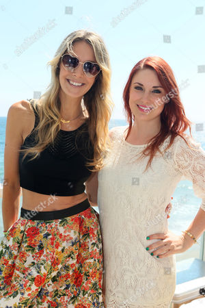 Samantha Schacher and Bree Essrig at Kia Beach House powered by Sabra, on in Malibu,CA
