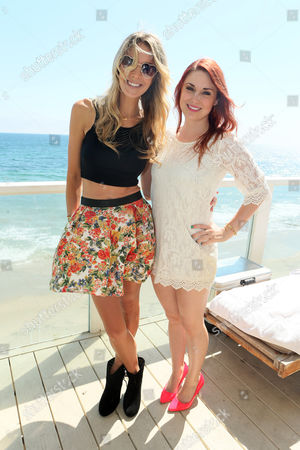 Stock Picture of Samantha Schacher and Bree Essrig at Kia Beach House powered by Sabra, on in Malibu,CA