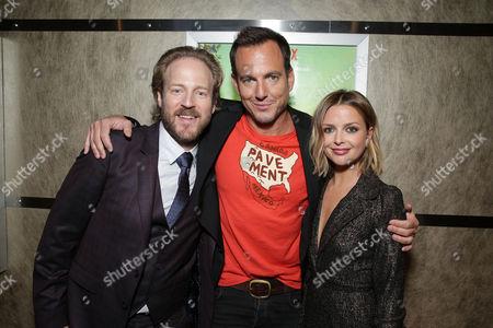 """David Sullivan, Creator/Exec. Producer/Star Will Arnett and Ruth Kearney seen at Netflix original series """"Flaked"""" Special Screening, in Santa Monica, CA"""