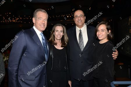 "Brian Williams, Jane Williams, Ido Aharoni, and Dana Mosevics attend HBO's ""Girls"" fourth season premiere party at The American Museum of Natural History, in New York"