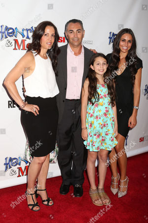 "Former Major League Baseball player John Franco and his family attend the premiere of ""Henry & Me"" at the Ziegfeld Theatre on in New York"