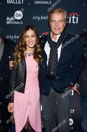"""Sarah Jessica Parker and Peter Martins attend the premiere of the AOL On original series """"city.ballet."""" on in New York"""
