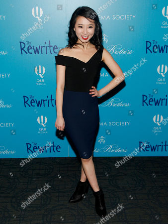 "Annie Q attends a screening of ""The Rewrite"" at Landmark Sunshine Cinema, in New York"