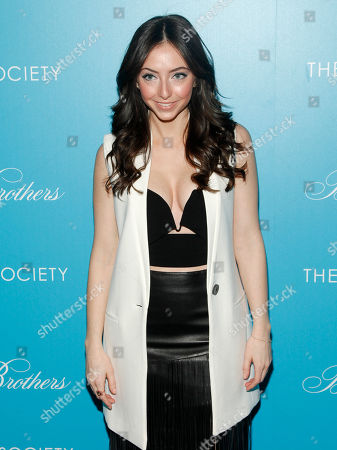 "Emily Morden attends a screening of ""The Rewrite"" at Landmark Sunshine Cinema, in New York"