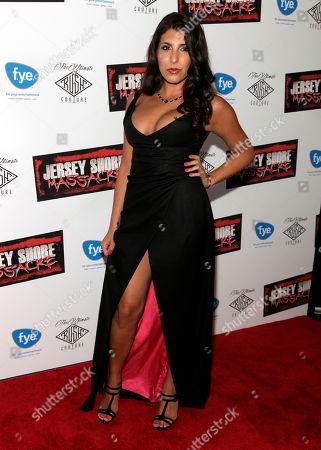 """Actress Nicole Rutigliano attends the premiere of """"Jersey Shore Massacre"""" on in New York"""