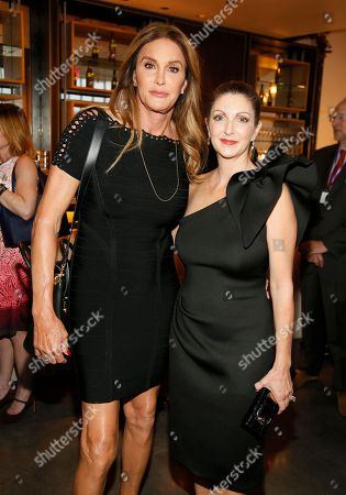 Caitlyn Jenner, left, and Barbara Poma attend onePULSE: A Benefit for Orlando at NeueHouse Hollywood, in Los Angeles