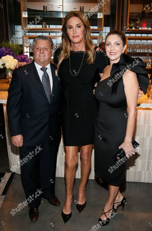 Rosario Poma, from left, Caitlyn Jenner, and Barbara Poma attend onePULSE: A Benefit for Orlando at NeueHouse Hollywood, in Los Angeles