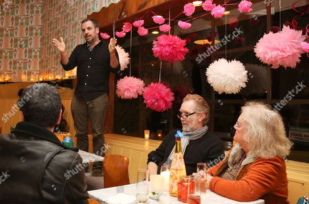 "Playwright Craig Wright speaks during a reception for New York's Rattlestick Playwrights Theater to celebrate its upcoming Los Angeles production of Daniel Talbott's ""Slipping"" held at the Beachwood Cafe on in Los Angeles, Calif"