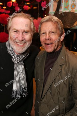 """From left, actor Harry Groener and producer Tom Moore pose during a reception for New York's Rattlestick Playwrights Theater to celebrate its upcoming Los Angeles production of Daniel Talbott's """"Slipping"""" held at the Beachwood Cafe on in Los Angeles, Calif"""