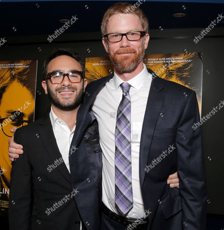 """Stock Image of Writer/director John Krokidas and Co-writer Austin Bunn attends Sony Pictures Classics Los Angeles Premiere of """"Kill Your Darlings"""" Presented by Blue Moon Brewing Company on in Los Angeles"""