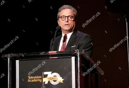 Hall of Fame Chair Rick Rosen speaks at the Television Academy 70th Anniversary Gala and Opening Celebration for its new Saban Media Center, in the NoHo Arts District in Los Angeles