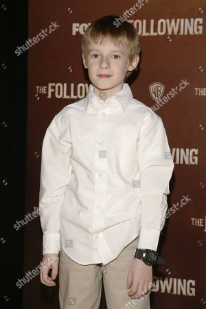 "Actor Kyle Catlett attends the world premiere of ""The Following"" event, at the New York Public Library on in New York"