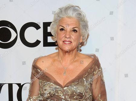 "Actress Tyne Daly arrives at the 68th annual Tony Awards at Radio City Music Hall in New York. Daly and fellow Tony-winner Harriet Harris will be returning to Broadway in a wedding comedy. Producers said Wednesday, Oct. 29, that the new musical ""It Shoulda Been You will start previews at the Brooks Atkinson Theatre on March 17. David Hyde Pierce, the former Frasier star, will direct"