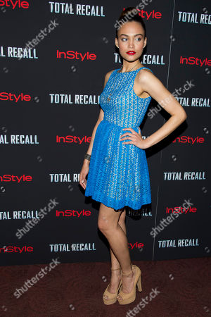 """Stock Picture of Chanel Farrell attends a screening of """"Total Recall"""" on in New York"""