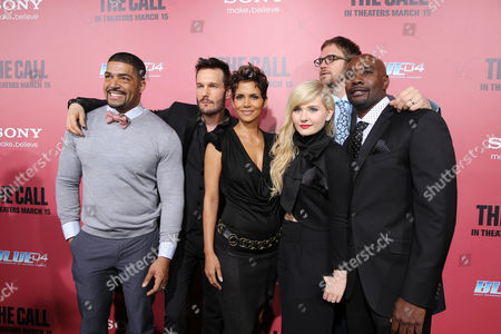 David Otunga, Michael Eklund, Halle Berry, Abigail Breslin, Director Brad Anderson and Morris Chesnut at TriStar Pictures World Premiere of 'The Call', held at the ArcLight Hollywood on in Los Angeles