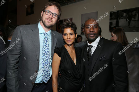 Director Brad Anderson, Halle Berry and Morris Chestnut at TriStar Pictures World Premiere of 'The Call', held at the ArcLight Hollywood on in Los Angeles