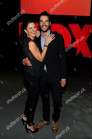Madchen Amick, left, and Daniel DiTomasso attend the Twentieth Century Fox Television Distribution's 2013 LA Screenings Lot Party on in Los Angeles, California