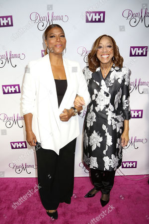 """Stock Photo of Queen Latifah, left, and her mother Rita Owens attend VH1's """"Dear Mama"""" Mother's Day Special taping at St. Bartholomewâ?™s Church, in New York"""