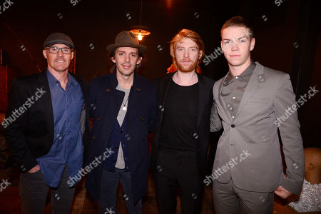 """Mark L. Smith, Lukas Haas, Domhnall Gleeson and Will Poulter seen at """"The Revenant"""" Party at MadeWorn hosted by Edward Norton, Shauna Robertson and Brett Ratner and sponsored by Bulleit Rye, in Los Angeles"""