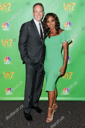 "Robert Greenblatt, left, and Holly Robinson Peete attend ""The Wiz Live!"" Photo Op held at the Directors Guild of America, in Los Angeles"