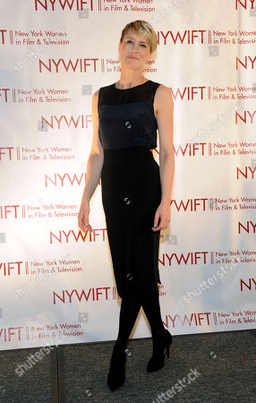 Robin Wright is honored at the 2013 Muse Awards presented by New York Women in Film & Television, in New York, which also honored actors Connie Britton, Ellen Barkin, Sonia Manzano and Frances Berwick, President of Bravo and Oxygen Media