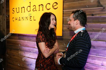 "Stock Picture of Rectify"" cast member Abigail Spencer, left, and Sundance Channel executive Christian Vesper, right, laugh together at Sundance Channel's Annual Festival Celebration during the 2013 Sundance Film Festival on in Park City, Utah"