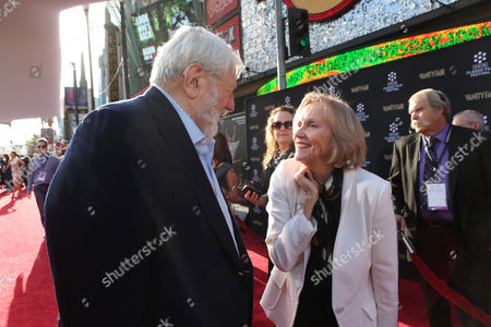 Stock Image of Actor Theodore Bikel and actress Eva Marie Saint at the 2013 TCM Classic Film Festival's Opening Night Gala at the TCL Chinese Theatre on in Los Angeles