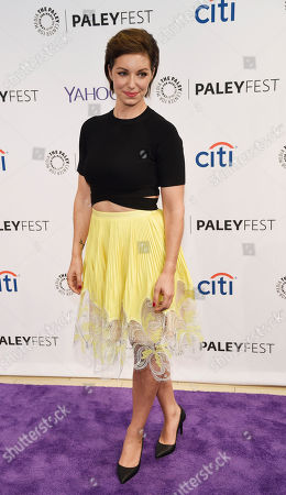 """Stock Image of Bianca Kajlich, a cast member in the television series """"Undateable,"""", poses at the 2015 PaleyFest Fall TV Previews at The Paley Center for Media, in Beverly Hills, Calif"""