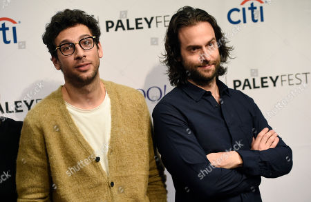 "Rick Glassman, left, and Chris D'Elia, cast members in the television series ""Undateable,"" pose together at the 2015 PaleyFest Fall TV Previews at The Paley Center for Media, in Beverly Hills, Calif"