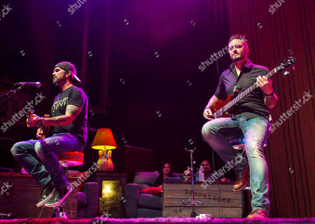 Chris Henderson and Justin Biltonen with 3 Doors Down performs during the Songs From the Basement Tour at The Tabernacle, in Atlanta