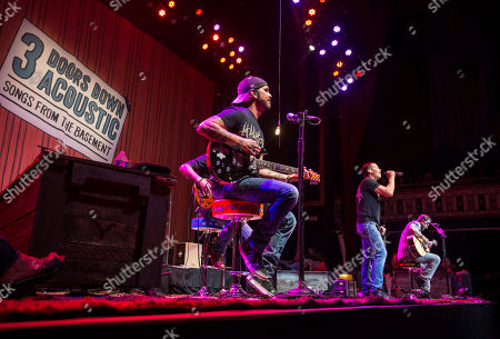 Brad Arnold, Chris Henderson, Greg Upchurch, Chet Roberts and Justin Biltonen as 3 Doors Down performs during the Songs From the Basement Tour at The Tabernacle, in Atlanta