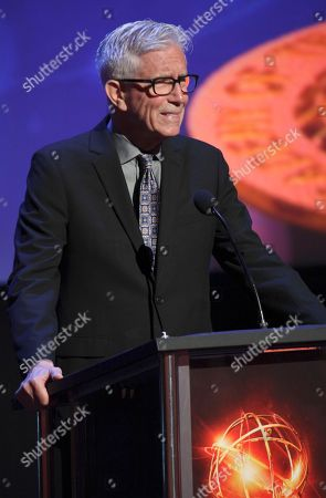 Fritz Coleman presents the award for sport tease at the L.A. Area Emmy Awards presented at the Television Academy new Saban Media Center, in the NoHo Arts District in Los Angeles