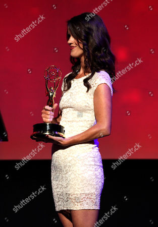 Mary Holland presents the Emmy for Information Segment at the L.A. Area Emmy Awards presented at the Television Academy's new Saban Media Center, in the NoHo Arts District in Los Angeles