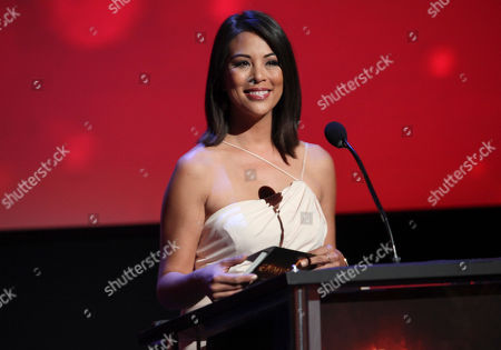 Cher Calvin presents the award for education at the L.A. Area Emmy Awards presented at the Television Academy's new Saban Media Center, in the NoHo Arts District in Los Angeles