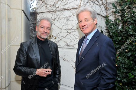 Actors Perry King (L) and Bruce Boxleitner attend AARP The Magazine's 12th Annual Movies For Grownups Awards at The Peninsula Hotel on in Beverly Hills, California